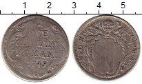 Изображение Монеты Ватикан 2 карлини 1749 Серебро VF