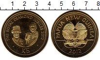 Изображение Монеты Папуа-Новая Гвинея 5 кин 2012 Латунь UNC