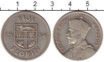 Изображение Монеты Фиджи 1 флорин 1934 Серебро XF