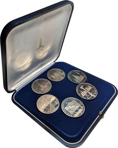 Изображение Подарочные монеты СССР Олимпиада 80 0 Медно-никель Proof-