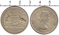 Изображение Монеты Австралия 1 флорин 1957 Серебро XF+ Елизавета II