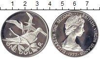 Изображение Монеты Северная Америка Виргинские острова 1 доллар 1977 Серебро Proof-