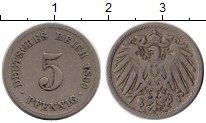 Изображение Монеты Европа Германия 5 пфеннигов 1899 Медно-никель VF