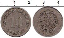 Изображение Монеты Европа Германия 10 пфеннигов 1876 Медно-никель XF-