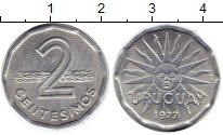 Изображение Монеты Южная Америка Уругвай 2 сентесимо 1977 Алюминий UNC-