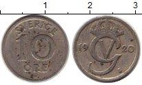 Изображение Монеты Европа Швеция 10 эре 1920 Медно-никель XF