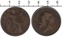 Изображение Монеты Великобритания 1 пенни 1912 Бронза VF Георг V