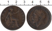 Изображение Монеты Европа Великобритания 1 пенни 1912 Бронза XF