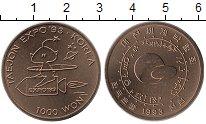 Изображение Монеты Южная Корея 1000 вон 1993 Медно-никель UNC-