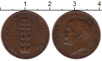 Изображение Монеты Европа Италия 5 сентесим 1921 Бронза XF