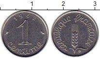 Изображение Монеты Европа Франция 1 сантим 1962 Сталь XF
