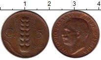 Изображение Монеты Европа Италия 5 чентезимо 1925 Бронза XF