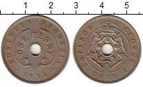 Изображение Монеты Великобритания Родезия 1 пенни 1934 Медно-никель XF