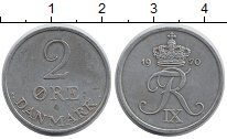 Изображение Монеты Европа Дания 2 эре 1970 Цинк XF+