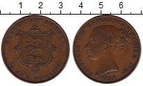 Изображение Монеты Остров Джерси 1/13 шиллинга 1851 Медь XF-