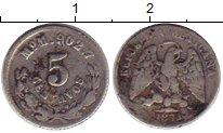 Изображение Монеты Мексика 5 сентаво 1871 Серебро XF-