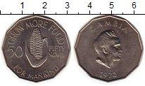 Изображение Монеты Африка Замбия 50 нгвей 1972 Медно-никель UNC-