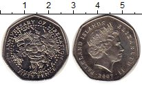Изображение Монеты Фолклендские острова 50 пенсов 2007 Медно-никель UNC-