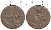 Изображение Монеты Северная Америка Никарагуа 25 сентаво 1954 Медно-никель XF