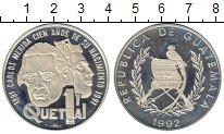 Изображение Монеты Северная Америка Гватемала 1 кетцаль 1992 Серебро Proof-