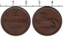 Изображение Монеты Брауншвайг-Вольфенбюттель 2 пфеннига 1855 Медь VF
