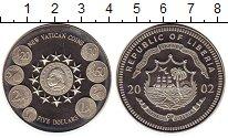 Изображение Монеты Либерия 5 долларов 2002 Медно-никель UNC Новые деньги Ватикан