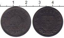Изображение Монеты Германия : Нотгельды 10 пфеннигов 1918 Цинк XF+ Бад-Киссинген