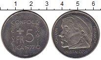Изображение Монеты Швейцария 5 франков 1977 Медно-никель UNC-
