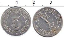 Изображение Монеты Германия Бремен 5 пфеннигов 1924 Алюминий XF+