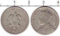Изображение Монеты Австралия и Океания Фиджи 6 пенсов 1935 Серебро VF