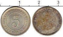 Изображение Монеты Стрейтс-Сеттльмент 5 центов 1926 Серебро XF Георг V