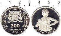 Изображение Монеты Дагомея 200 франков 1971 Серебро Proof- 10-летие независимос
