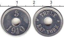 Изображение Монеты Дания Гренландия 5 эре 1910 Алюминий UNC-