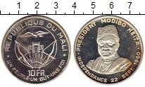 Изображение Монеты Африка Мали 10 франков 1960 Серебро Proof-