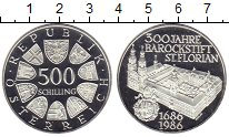 Изображение Монеты Австрия 500 шиллингов 1986 Серебро Proof-