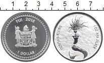 Изображение Монеты Фиджи 1 доллар 2018 Серебро UNC