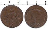 Изображение Монеты Европа Франция 5 сантим 1906 Бронза XF