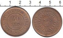 Изображение Монеты Южная Америка Бразилия 40 рейс 1889 Медь UNC-