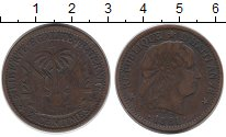 Изображение Монеты Гаити 2 сантима 1881 Медь XF-