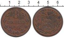 Изображение Монеты Великобритания Гернси 8 дублей 1902 Бронза XF