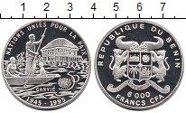 Изображение Монеты Бенин 6000 франков 1995 Серебро Proof-