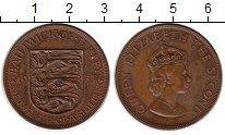 Изображение Монеты Остров Джерси 1/12 шиллинга 1957 Бронза XF Елизавета II