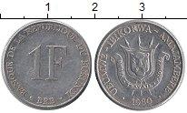 Изображение Монеты Африка Бурунди 1 франк 1980 Алюминий XF
