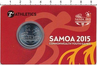 Изображение Монеты Самоа 50 сене 2015 Медно-никель UNC 5-е Юношеские игры с