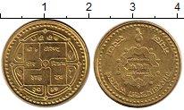 Изображение Мелочь Непал 1 рупия 2000 Латунь UNC-