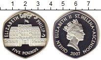 Изображение Монеты Остров Святой Елены 5 фунтов 2007 Серебро Proof-