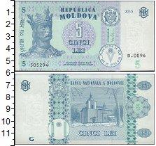 Изображение Банкноты СНГ Молдавия 5 лей 2015  UNC
