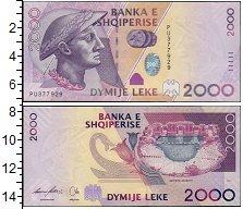 Изображение Банкноты Албания 2000 лек 2007  UNC