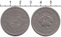 Изображение Монеты Африка Гана 20 песев 1967 Медно-никель XF