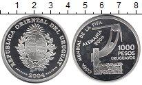 Изображение Монеты Южная Америка Уругвай 1000 песо 2004 Серебро Proof-